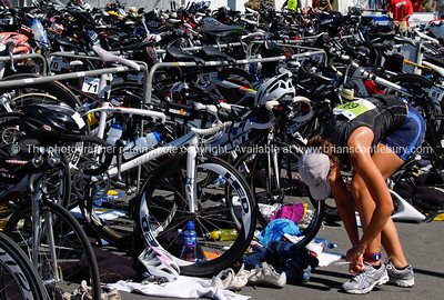 Port of Tauranga Half Ironman, 2011, contestant chages running shoes in the cycle transition area. 69, Kelly Mabbett. Tauranga is New Zealands 5th largest city and offers a wonderfull variety of scenic and cultural experiences. ALSO SEE; http://www.blurb.com/b/3811392-tauranga