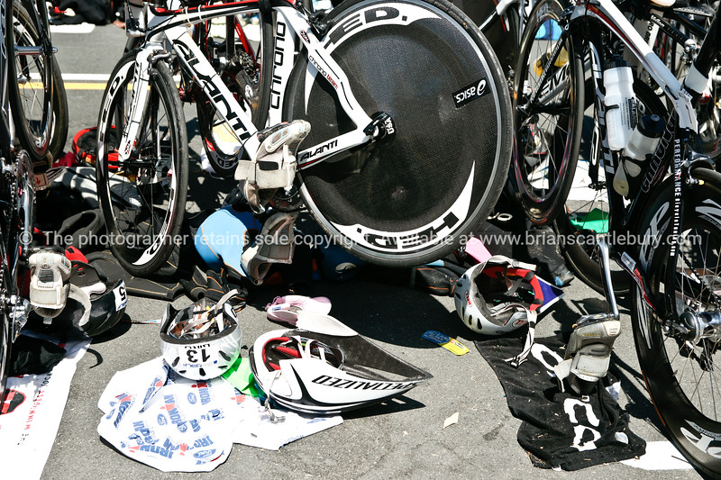 """Bike station, accessories, 2010POT Half Ironman. Tauranga, New Zealand. Tauranga is New Zealands 5th largest city and offers a wonderfull variety of scenic and cultural experiences. ALSO SEE; <a href=""""http://www.blurb.com/b/3811392-tauranga"""">http://www.blurb.com/b/3811392-tauranga</a>"""