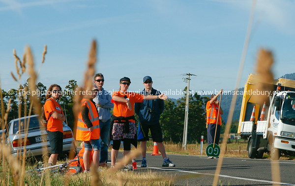 "Marshals in 2010 POT Half Ironman -  at Bell road cycle turnaround, Tauranga, New Zealand. Tauranga is New Zealands 5th largest city and offers a wonderfull variety of scenic and cultural experiences. ALSO SEE; <a href=""http://www.blurb.com/b/3811392-tauranga"">http://www.blurb.com/b/3811392-tauranga</a>"