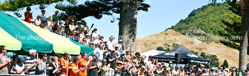 """Finish line crowd, 2010 Port of Tauranga Half Ironman triathalon. Tauranga is New Zealands 5th largest city and offers a wonderfull variety of scenic and cultural experiences. ALSO SEE; <a href=""""http://www.blurb.com/b/3811392-tauranga"""">http://www.blurb.com/b/3811392-tauranga</a>"""