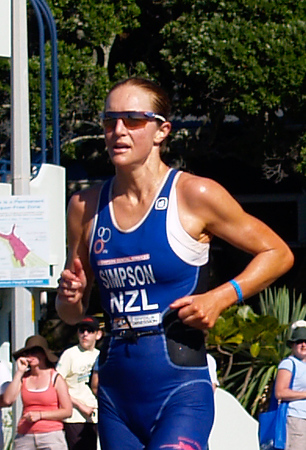 Port of Tauranga Half Ironman, 2011, Janine Simpson on running leg. Tauranga is New Zealands 5th largest city and offers a wonderfull variety of scenic and cultural experiences. ALSO SEE; http://www.blurb.com/b/3811392-tauranga