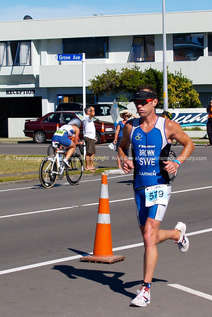Port of Tauranga Half Ironman, 2011, Gary Brown runs along Marine Parade. Tauranga is New Zealands 5th largest city and offers a wonderfull variety of scenic and cultural experiences. ALSO SEE; http://www.blurb.com/b/3811392-tauranga