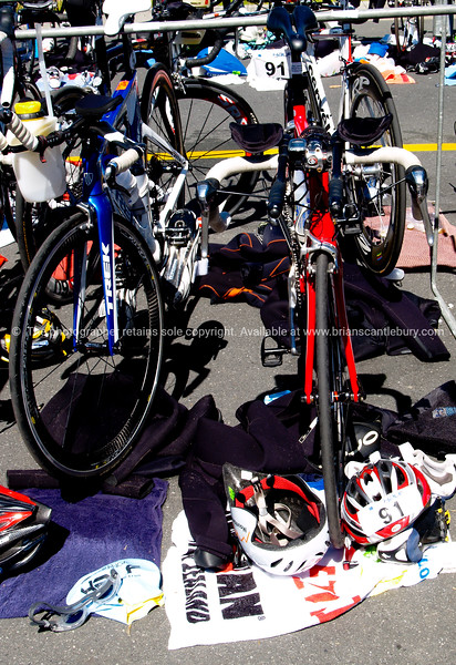 "POT Half Ironman 2011, cycle transition, bicyle and gear for contectant 91 Stephen Currin. Tauranga is New Zealands 5th largest city and offers a wonderfull variety of scenic and cultural experiences. ALSO SEE; <a href=""http://www.blurb.com/b/3811392-tauranga"">http://www.blurb.com/b/3811392-tauranga</a>"