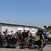Record-Eagle/Keith King<br /> Participants gather near Classic Motor Sports Sunday, July 17, 2011 prior to the start of the annual Ride for Father Fred hosted by the Northern Chapter Harley Owners Group. Motorcyclists in the  event begin at Classic Motor Sports and travel toward the Old Mission Lighthouse before returning to conclude their ride at the Veterans of Foreign Wars Cherryland Post 2780 on Veterans Drive.
