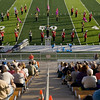 Record-Eagle/Keith King<br /> The Johannesburg-Lewiston High School marching band performs Monday, October 10, 2011 during the annual Thirlby High School Marching Band Exhibition at Thirlby Field. Eighteen regional high schools took part in the event.