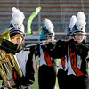 Record-Eagle/Keith King<br /> Shea Howe plays the baritone while performing with other members of the Mancelona High School marching band Monday, October 10, 2011 during the annual Thirlby High School Marching Band Exhibition at Thirlby Field. Eighteen regional high schools took part in the event.