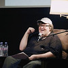 """Record-Eagle/Keith King<br /> Michael Moore talks as he shares stories from his book, """"Here Comes Trouble,"""" Saturday, July 30, 2011 prior to the Traverse City Film Festival """"Mike's Surprise"""" film at Lars Hockstad Auditorium."""