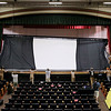 Record-Eagle/Keith King<br /> A projection screen is raised in Lars Hockstad Auditorium at Central Grade School Wednesday, July 20, 2011 in preparation for the upcoming annual Traverse City Film Festival.