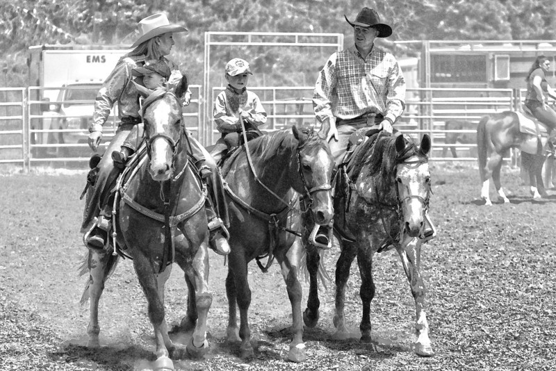 Red Ribbon (Rodeo Family)  Kelsey, Blake,Wade,Clint Endicott