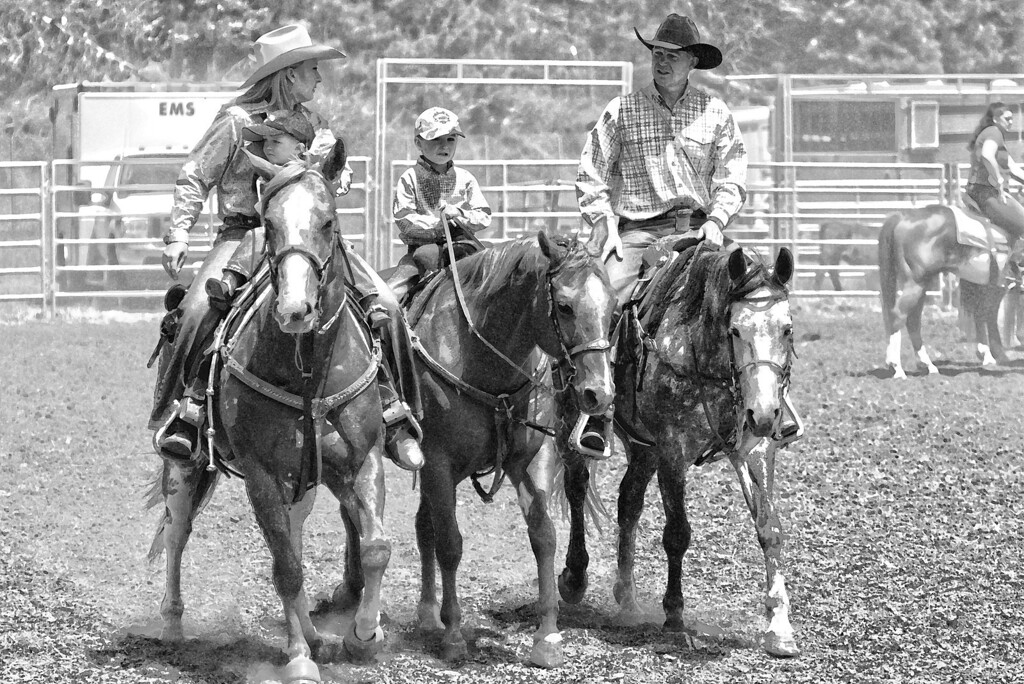 Red Ribbon (Rodeo Family)  Kelsey, Blake,Wade,Clint Endicott