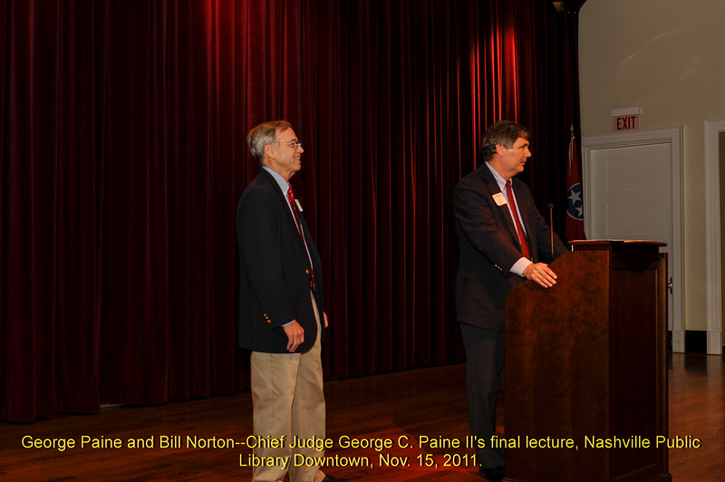 Paine's Final Lecture 2011