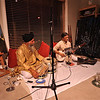 My Sarod guru Shree Bhaskar Sen at our Calgary house accompanied by Shree Harjinder Singh
