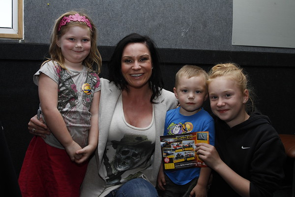 Lucy Pargeter (Chastity Dingle from Emmerdale) with some fans