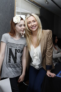 Gemma Merna (Carmel Valentine from Hollyoaks) with a fan