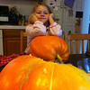 We grew these pumpkin from seeds. The seeds came from Keith Muskutt. - Thanks Keith!