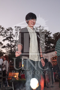 UNCP hosts the Honors College and International Students Cookout at the Chancellor's Residence on October 27th, 2011.