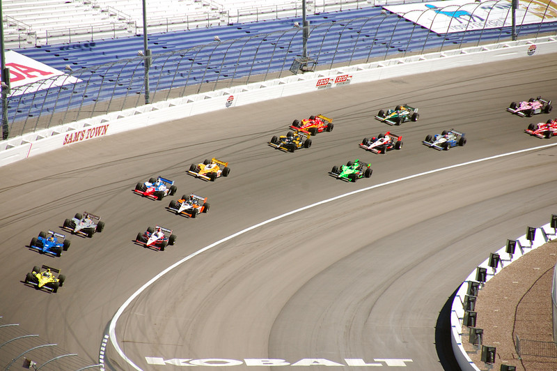 Pack racing on laps 1 - 10.