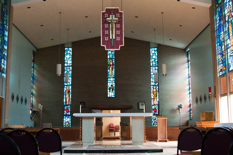 the chapel at Gilmary Center