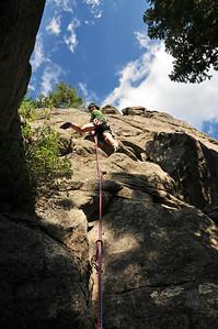 Climbing in Boulder Canyon