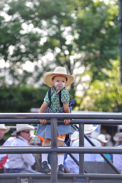 Junior rodeo clown