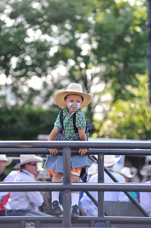 Junior rodeo clown