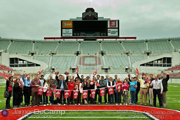 Travel agents affiliated with TS24 (Travel Solutions) tour the Ohio State University Football Stadium - The Shoe - Thursday afternoon October 13, 2011. (© James D. DeCamp • http://www.JamesDeCamp.com • 614-367-6366)