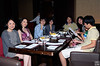 dinner at lovely Americas, from left to right:<br /> Cindy(Bin's wife), Mei(Wei's wife), Chuan, Angie, Paul Tseng, Paul Tseng's wife and his two kids