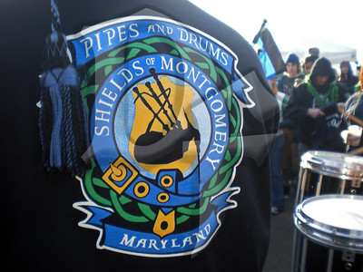 Shields of Montgomery, MD/DC Police Dept. Pipes and Drums perform in the crowd during Shamrock Fest 2011