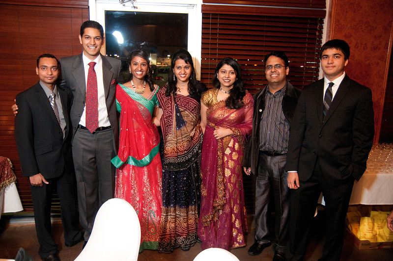 Friends and family gather to celebrate the engagement of Prasanth Pattisapu and Nita Garg Saturday, Jan. 7, 2012 at Mayuri Indian Restaurant in Irving, Texas.