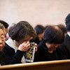 Dae Shin Kang, father of Jun Kang, is buried after a memorial service Thursday, February 28, 2013 at Restland Funeral Home in Richardson, Texas.