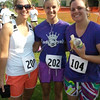 Julie, Natalie, Katie - after the run