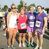 Julie, Patty, Natalie, Katie - before the run