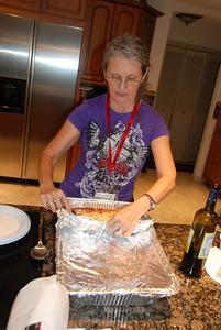 Andrea unveils the lasagna...