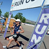 "Steve Finegan, of Thornton, begins his run in the 2012 Boulder 5430 Sprint Triathlon on Sunday at the Boulder Reservoir. <br /> For more photos and a video of the triathlon, go to  <a href=""http://www.dailycamera.com"">http://www.dailycamera.com</a>.<br /> Cliff Grassmick / June 17, 2012"