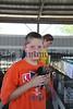 Riley Schneider, 11, of Vinton, shows off his Black Birchon hens.