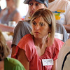 "Former Buffs, Sara Slattery, front, and Kenyon Neuman at the Bolder media lunch.<br /> For two videos and more photos of Bolder Boulder lunch, go to  <a href=""http://www.dailycamera.com"">http://www.dailycamera.com</a>.<br /> Cliff Grassmick / May 26, 2012"
