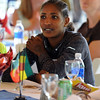 "Mamitu Daska of Ethiopia  listens to speakers at the lunch.<br /> For two videos and more photos of Bolder Boulder lunch, go to  <a href=""http://www.dailycamera.com"">http://www.dailycamera.com</a>.<br /> Cliff Grassmick / May 26, 2012"