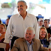 "Legendary running coach, Joe Vigil, is introduced to the crowd.<br /> For two videos and more photos of Bolder Boulder lunch, go to  <a href=""http://www.dailycamera.com"">http://www.dailycamera.com</a>.<br /> Cliff Grassmick / May 26, 2012"
