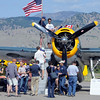"""Hundreds of people attended the 7th annual Boulder Airport Day on Saturday. This WWII aircraft was one of the highlights. It is the same plane the senior  George Bush flew in the war.<br /> For more photos and a video of airport day, go to  <a href=""""http://www.dailycamera.com"""">http://www.dailycamera.com</a>.<br /> Cliff Grassmick / June 16, 2012"""