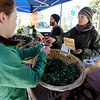 "Hannah Green left, buys potatoes from Laura Reppert of Cure Organic Farm at the market on Saturday.<br /> The first day of the 2012 Boulder County Farmers' Market was Saturday near Central Park.<br /> For photos and a video of the market, go to  <a href=""http://www.dailycamera.com"">http://www.dailycamera.com</a>.<br /> Cliff Grassmick / April 7, 2012"