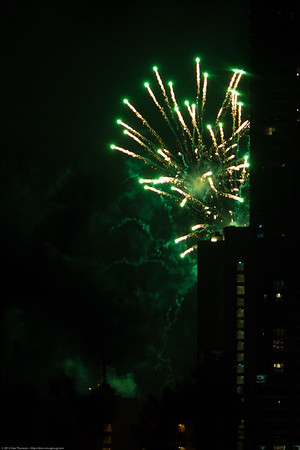 Brisbane Riverfire Festival 2012. Pics taken from inner north Brisbane, Australia. Photos by Des Thureson.