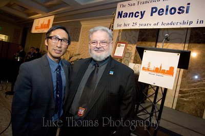 District 1 Supervisor Eric Mar and UESF President Dennis Kelly.