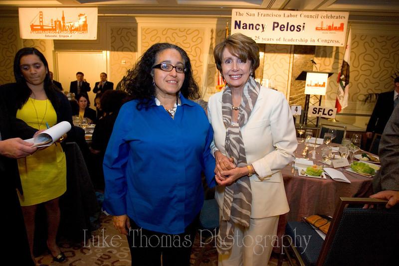 Supervisor Christina Olague and Nancy Pelosi.