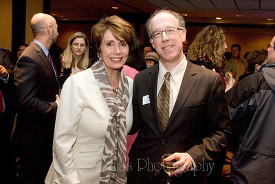 House Democratic leader Nancy Pelosi and TNDC Executive Director Don Falk.