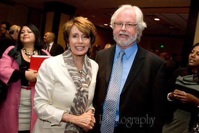 Nancy Pelosi and San Francisco Labor Council Executive Director Tim Paulson.