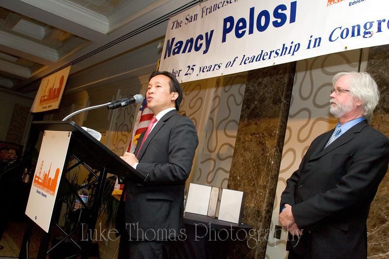 Board of Supervisors President David Chiu and SFLC Executive Director Tim Paulson.