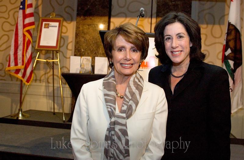Nancy Pelosi and Christine Pelosi.