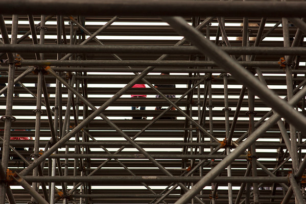 Through the stands at Le Circuit Gilles-Villeneuve. Not exactly the most comfy of seats.
