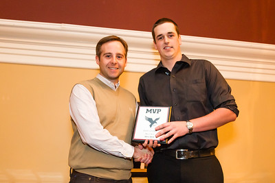 Ryan Leckie, MVP mens golf and Coach Andrew Donaldson