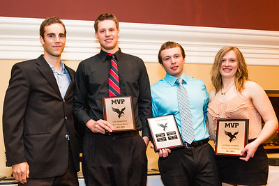 Coach Chris Mamen and nordic ski award recipients